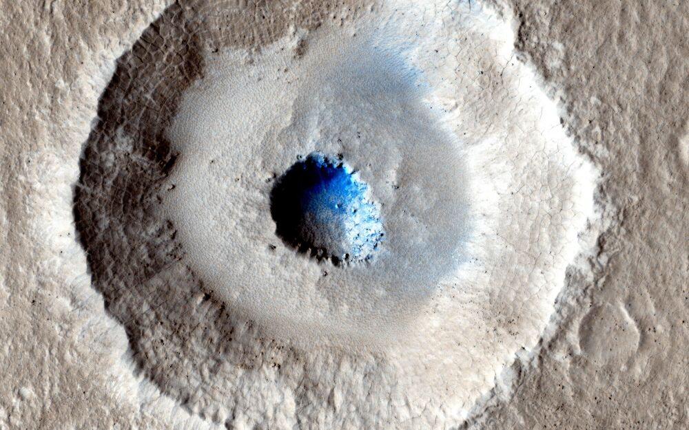 Oblodzona powierzchnia Marsa