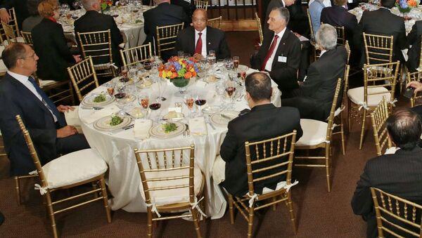 Oficjalne śniadanie w imieniu Sekretarza Generalnego ONZ Ban Ki-moona na cześć szefów delegacji biorących udział w 70. sesji Zgromadzenia Ogólnego ONZ w Nowym Jorku - Sputnik Polska