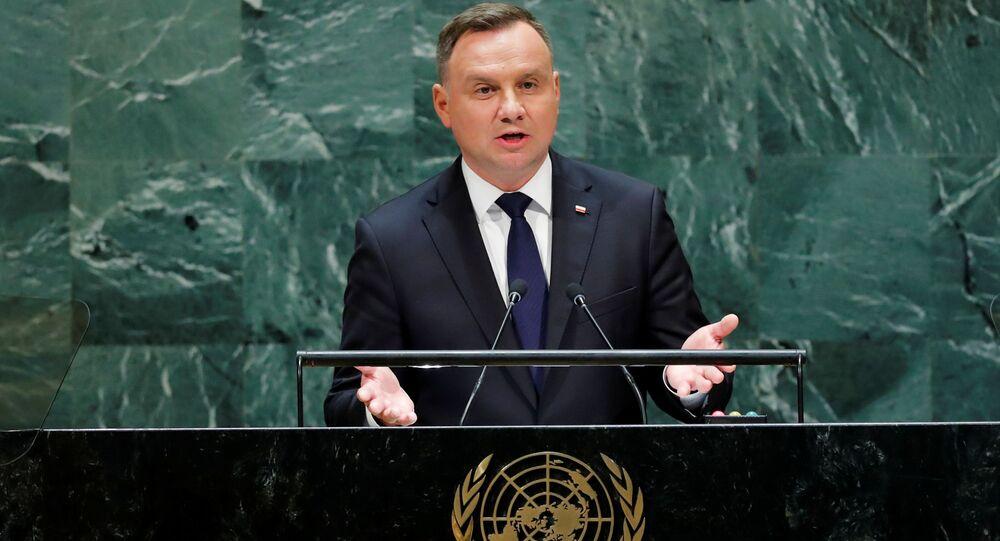 Andrzej Duda podczas wystąpenia na 74. sesji Zgromadzenia Ogólnego ONZ