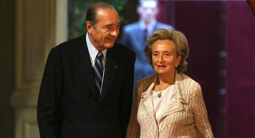 Jacques Chirac z żoną Bernadettą