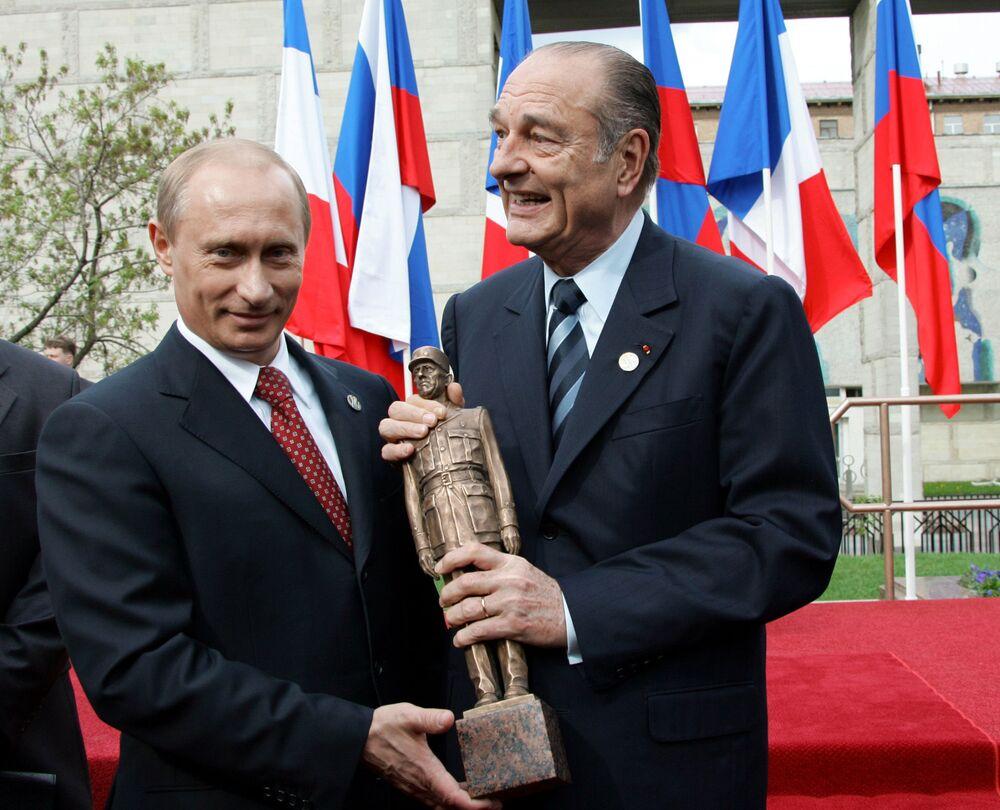 Władimir Putin i Jacques Chirac, 2005 rok