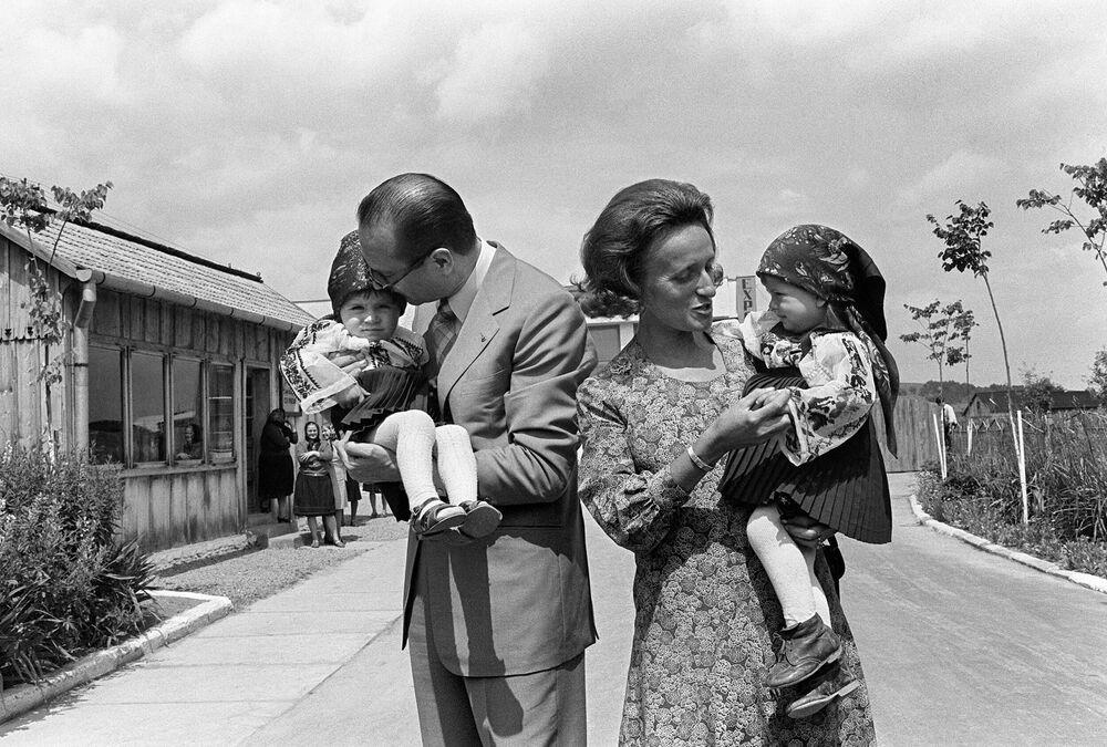 Jacques Chirac z rodziną, 1975 rok