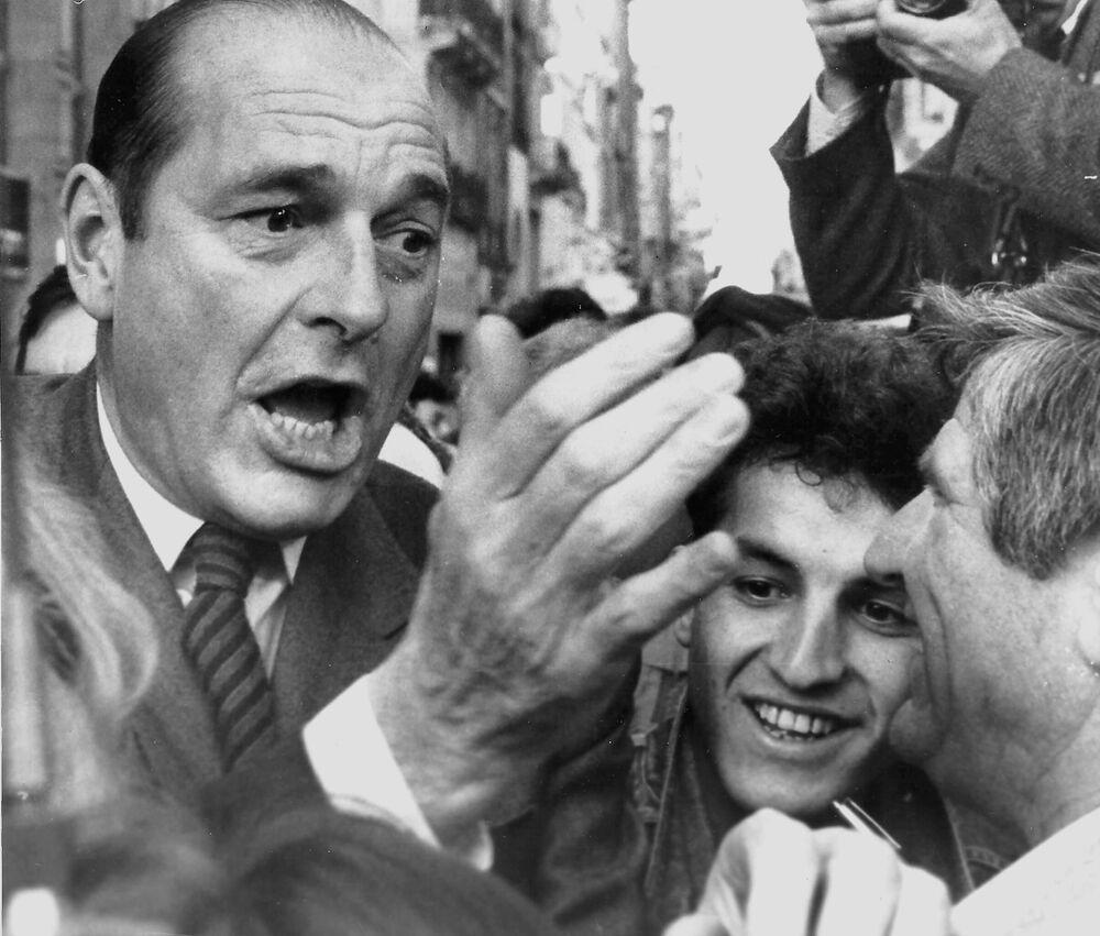 Jacques Chirac w Bordeaux, 11 marca 1988 roku