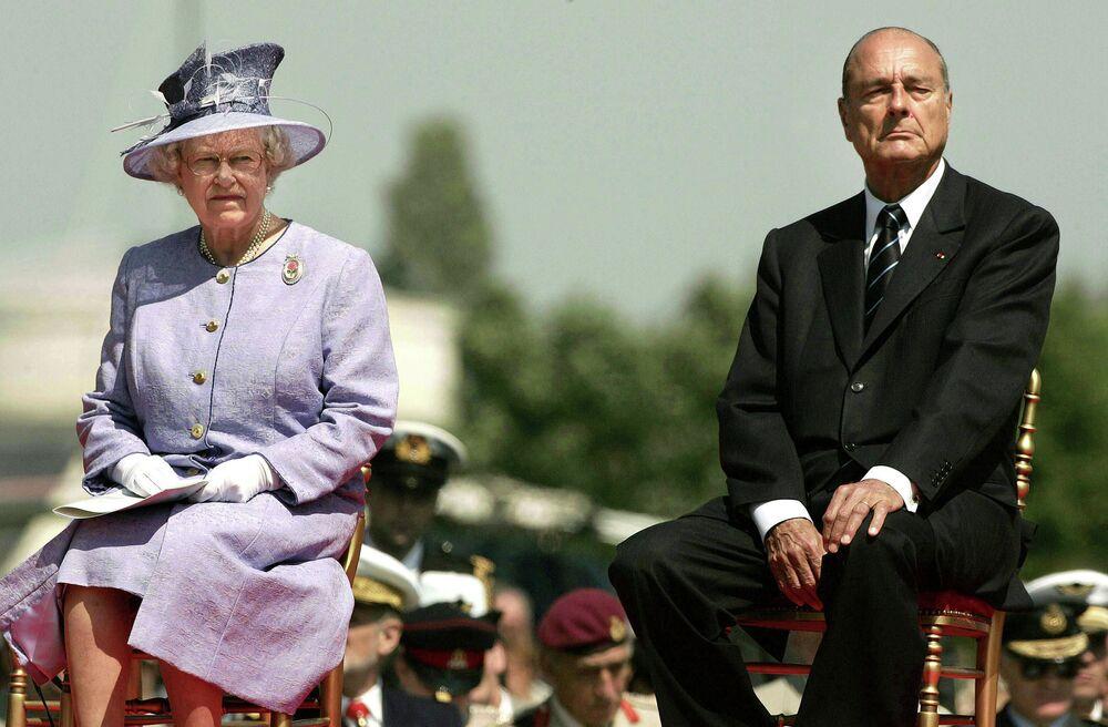 Elżbieta II i Jacques Chirac, 2004 rok