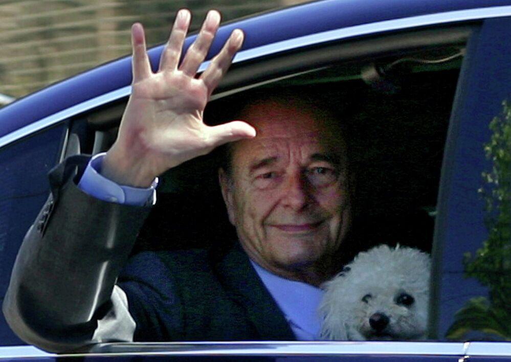 Prezydent Francji Jacques Chirac, 2 sierpnia 2006 roku