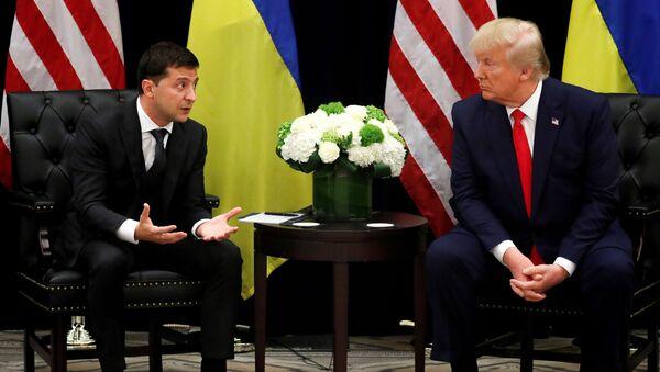 Wołodymyr Zełenski i Donald Trump - Sputnik Polska