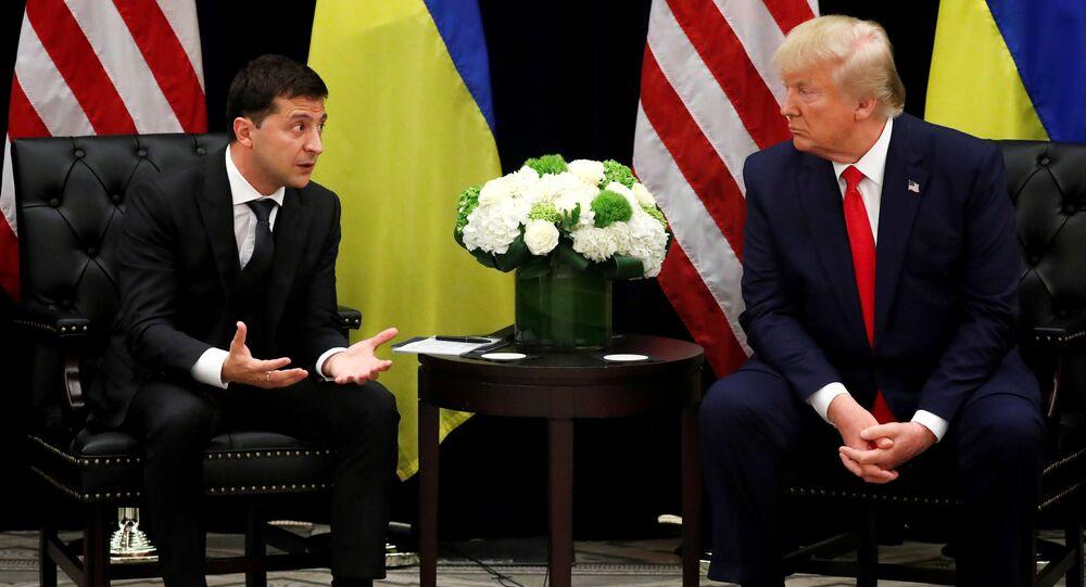 Wołodymyr Zełenski i Donald Trump