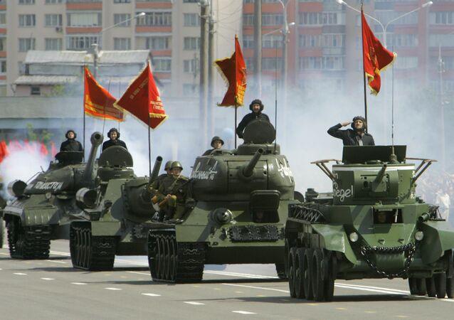 Parada wojskowa na Białorusi