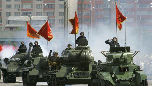 Parada wojskowa na Białorusi - Sputnik Polska
