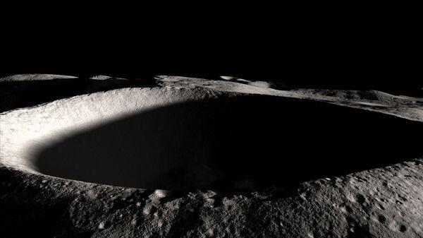Południowy biegun Księżyca - Sputnik Polska