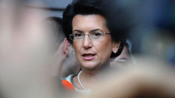 Była przewodnicząca gruzińskiego parlamentu i liderka opozycyjnego Ruchu Demokratycznego Nino Burdżanadze - Sputnik Polska