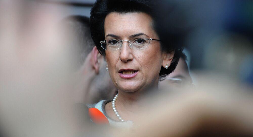 Była przewodnicząca gruzińskiego parlamentu i liderka opozycyjnego Ruchu Demokratycznego Nino Burdżanadze