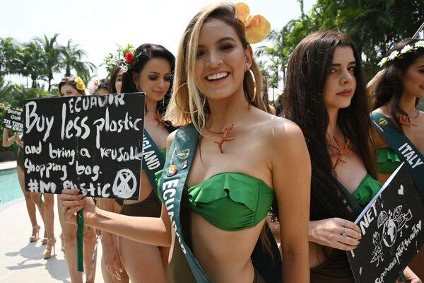 Kandydatka ubiegająca się o tytuł Miss Earth 2019 z Ekwadoru  - Sputnik Polska