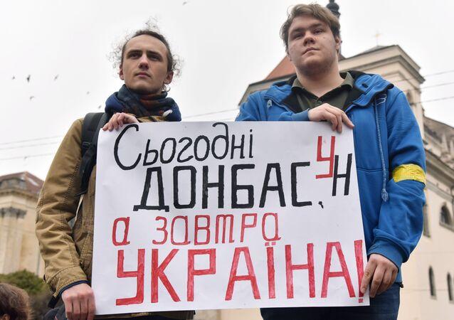 Protesty w sprawie Donbasu