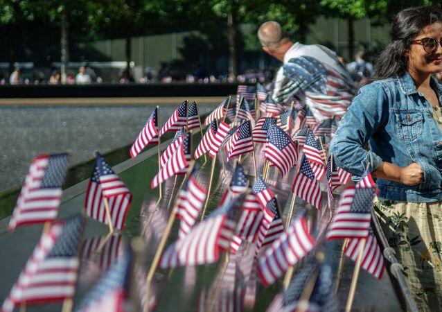 Pamiątkowe flagi USA