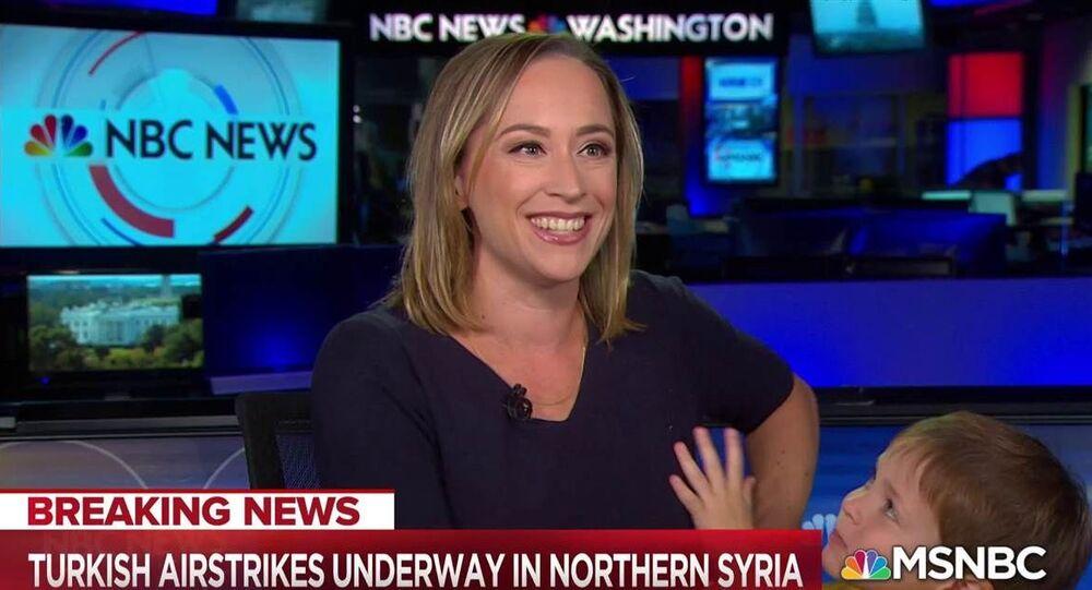 Prowadząca kanału NBC i jej synek w programie na żywo