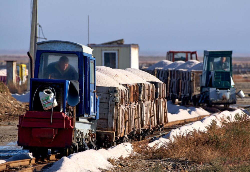 Wydobycie różowej soli na Krymie