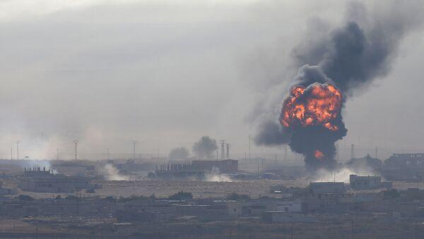 Wybuch w syryjskiej miejscowości Ras-al-Ayn - Sputnik Polska