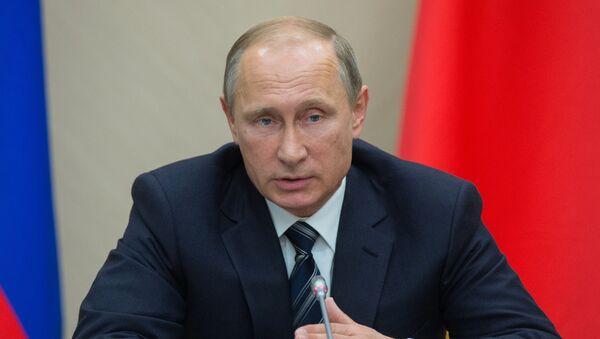 Президент России Владимир Путин во время совещания с членами правительства РФ - Sputnik Polska