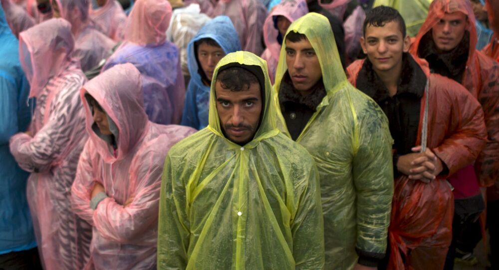 Syryjscy uchodźcy na granicy Serbii i Chorwacji