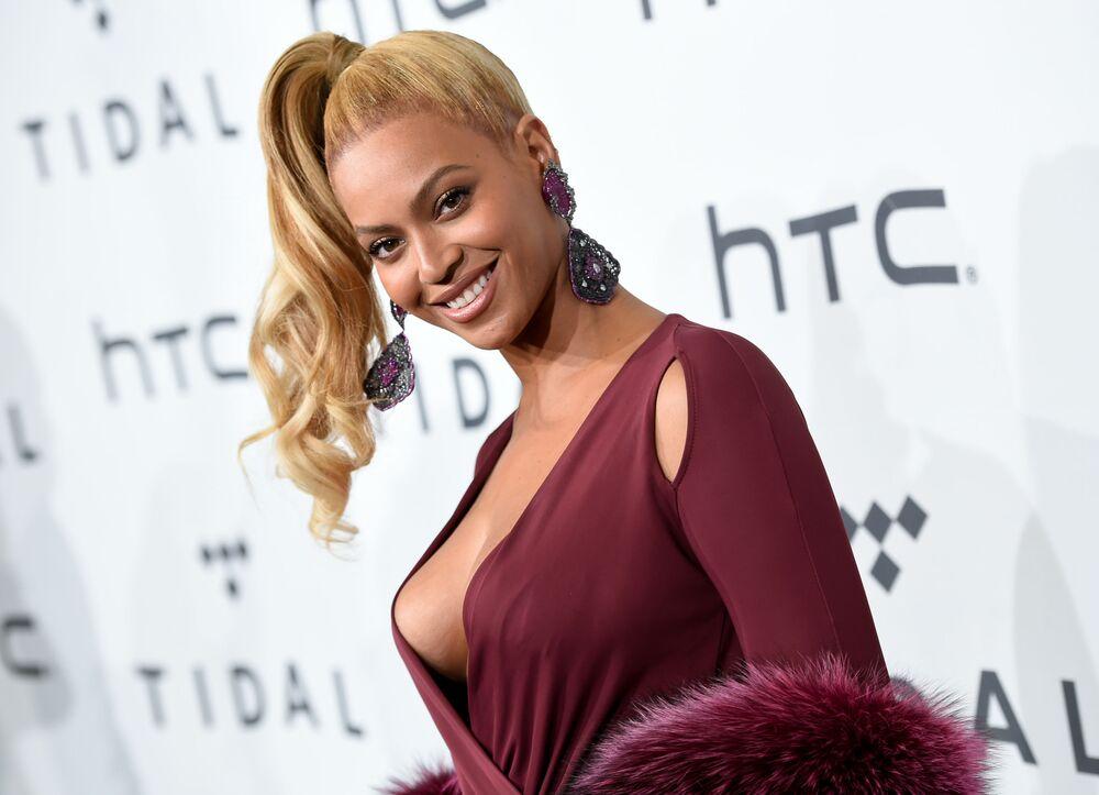 Amerykańska piosenkarka i aktorka Beyonce Knowles na TIDAL X: 1020 Amplified by HTC w Nowym Jorku