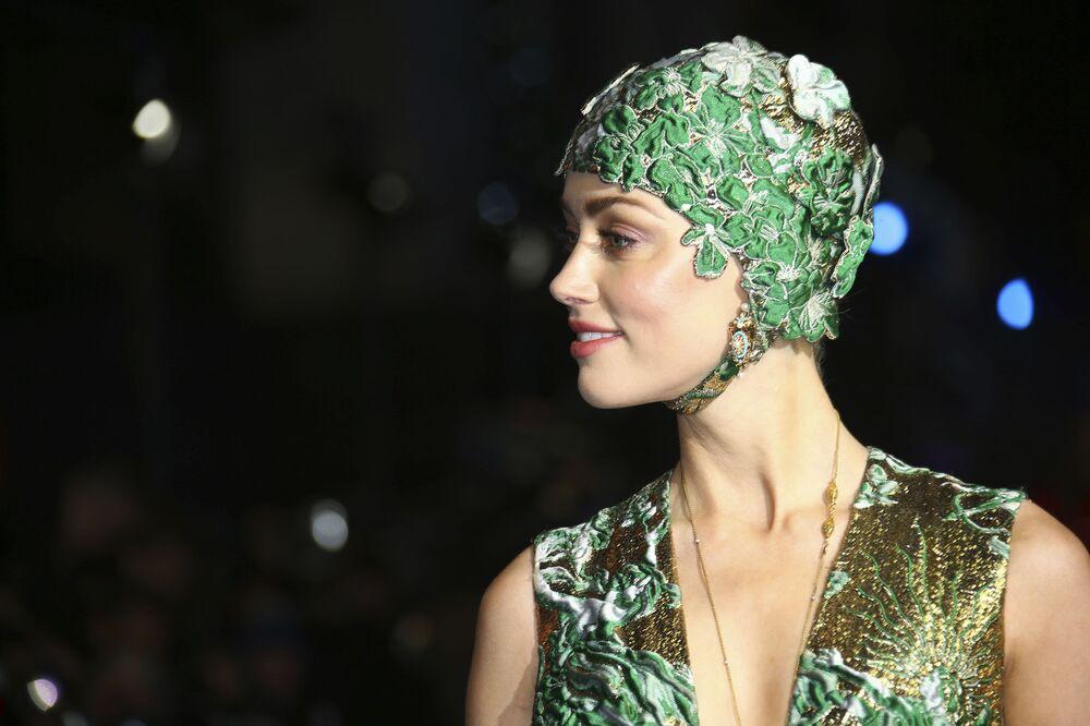 Amerykańska aktorka Amber Heard na premierze filmu Aquaman w Londynie