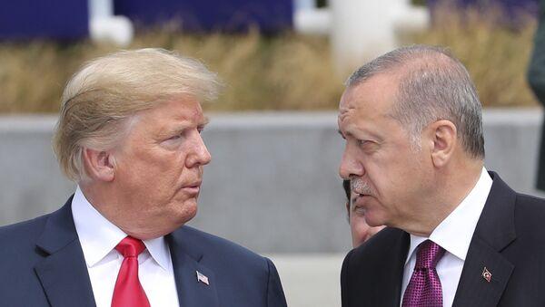 Donald Trump i Recep Tayyip Erdogan - Sputnik Polska