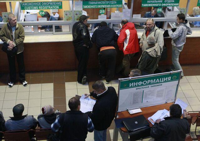 Przejście graniczne w białoruskim Brześciu