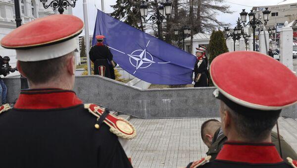 Flaga NATO w Skopje - Sputnik Polska
