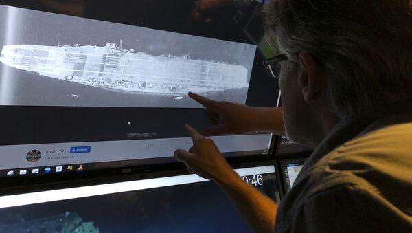 Na dnie Oceanu Spokojnego znaleziono japoński lotniskowiec Kaga zatopiony w 1942 roku w trakcie bitwy o Midway. - Sputnik Polska