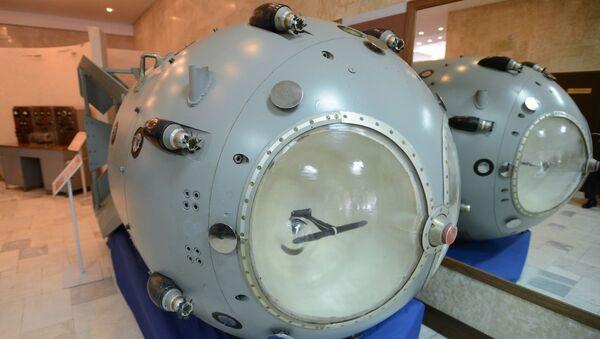 Pierwsza radziecka bomba atomowa RDS-1 w muzeum Wszechzwiązkowego Instytutu Badawczego Fizyki Eksperymentalnej - Sputnik Polska