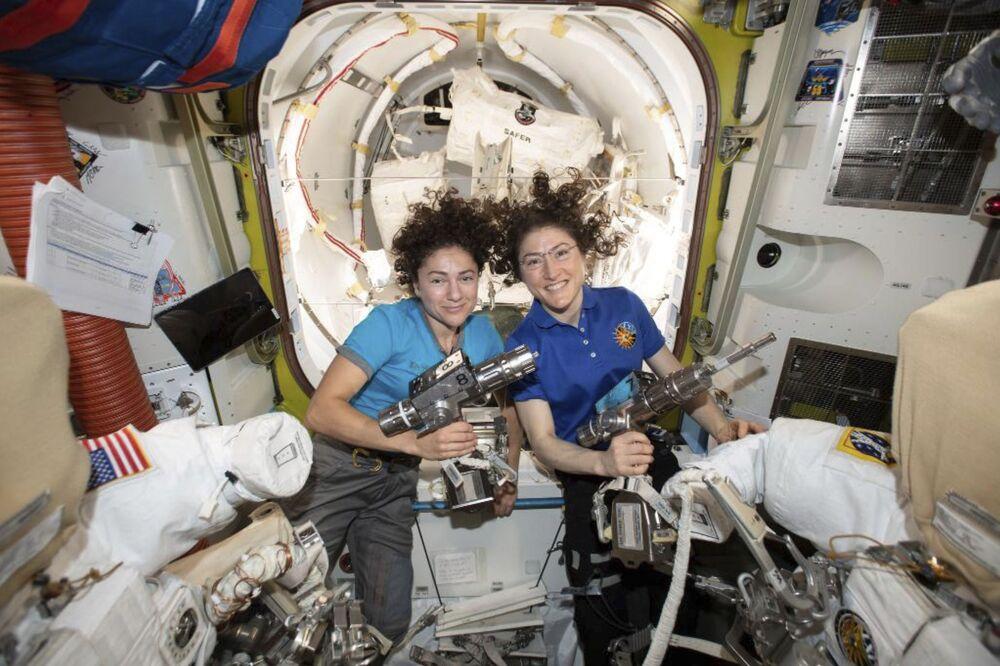 Astronautki Christina Koch i Jessica Meir na MSK