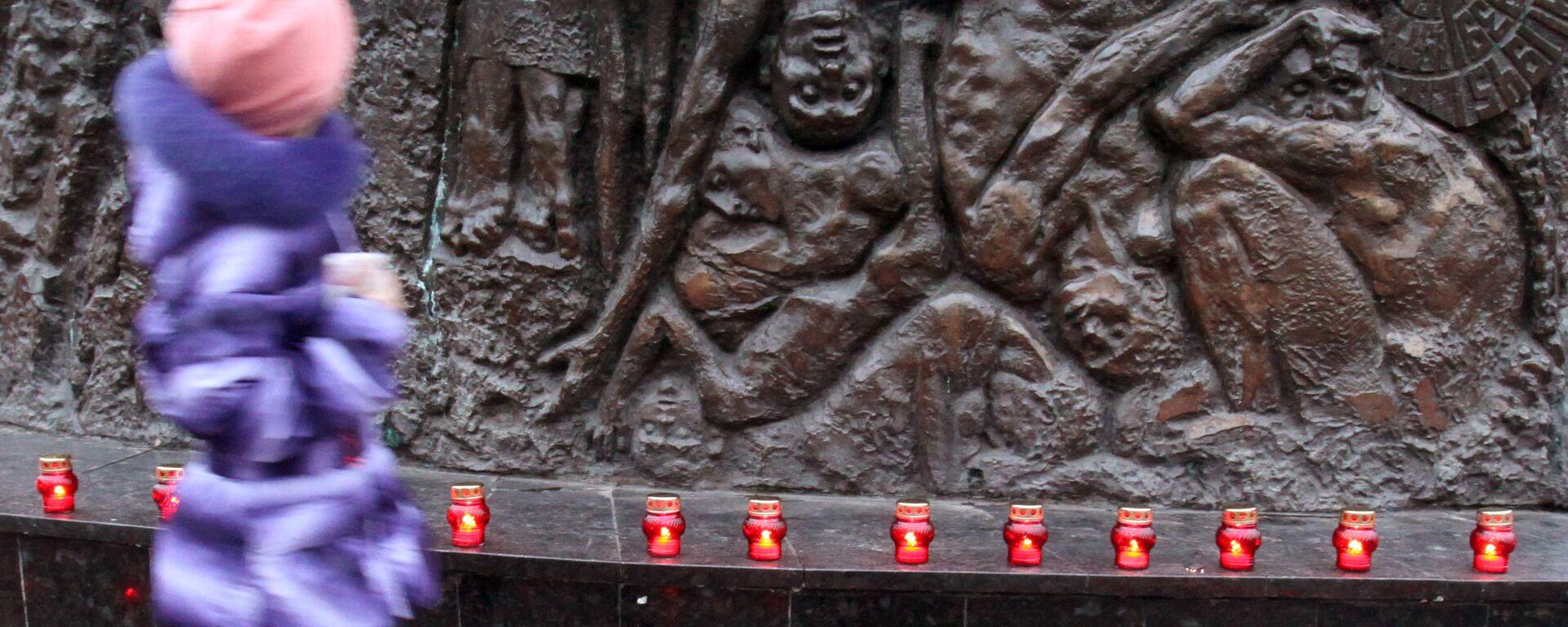 Pomnik ofiar Hołodomoru we Lwowie - Sputnik Polska, 1920, 29.11.2020