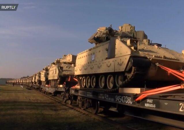 Amerykańskie czołgi dotarły na Litwę