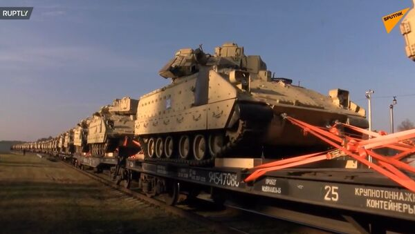 Amerykańskie czołgi dotarły na Litwę - Sputnik Polska