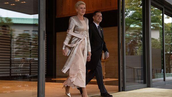 Agata Kornhauser-Duda i ambasador Polski Paweł Milewski w Tokio - Sputnik Polska
