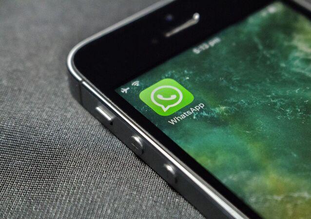 Aplikacja WhatsAppa na ekranie telefonu