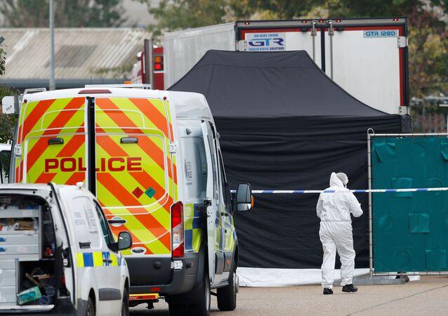 Miejsce, w którym znaleziono ciężarówkę z 39 ciałami