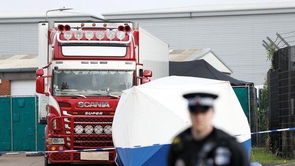 Essex, miejsce odkrycia ciężarówki z 39 ciałami - Sputnik Polska