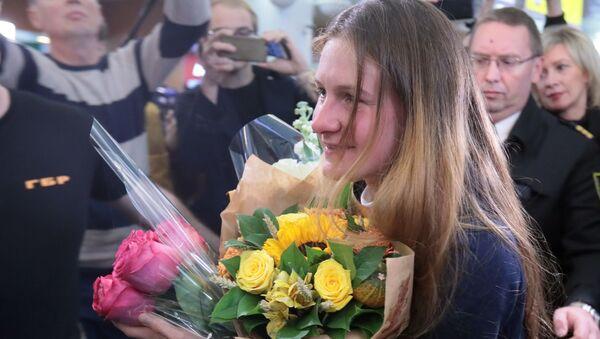 Powrót Marii Butinej do Rosji. - Sputnik Polska