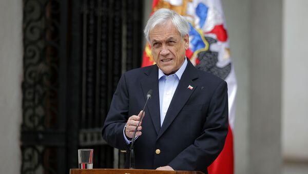 Prezydent Chile Sebastian Pinera - Sputnik Polska