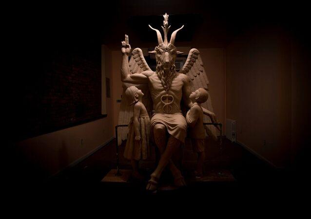 Świątynia Szatana w Detroit w stanie Michigan, USA