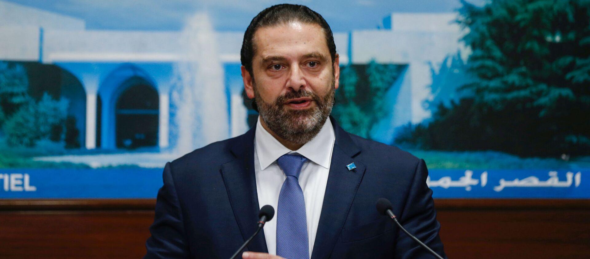 Premier Libanu Sad al-Hariri - Sputnik Polska, 1920, 29.10.2019