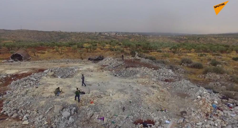 Ruiny kryjówki przywódcy ISIS Abu Bakry al-Bagdadiego