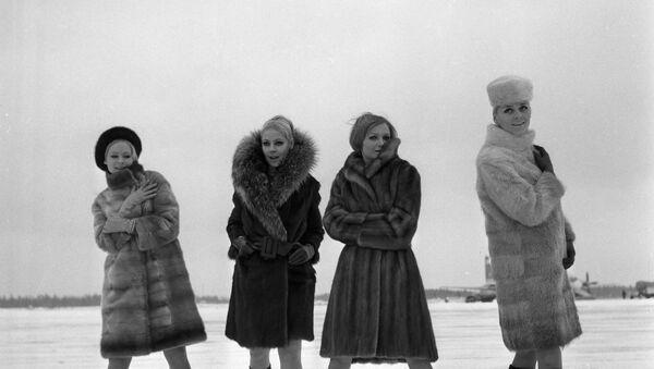 Kolekcja z rosyjskich futer w 1968 roku  - Sputnik Polska