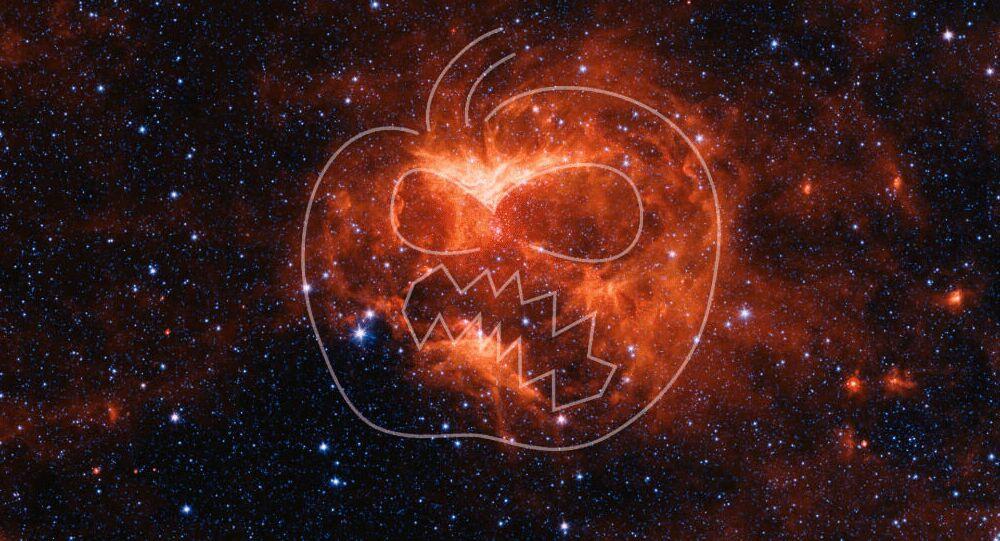 Obraz w podczerwieni mgławicy Jack-o'-lantern
