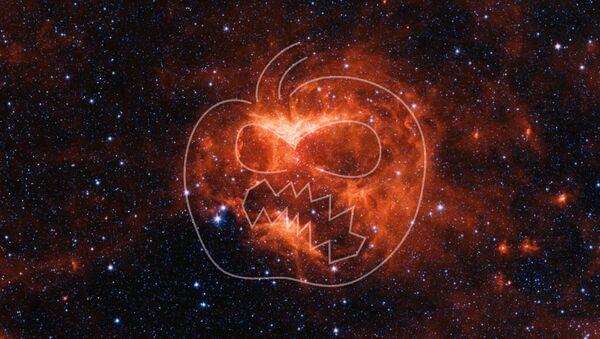 Obraz w podczerwieni mgławicy Jack-o'-lantern - Sputnik Polska