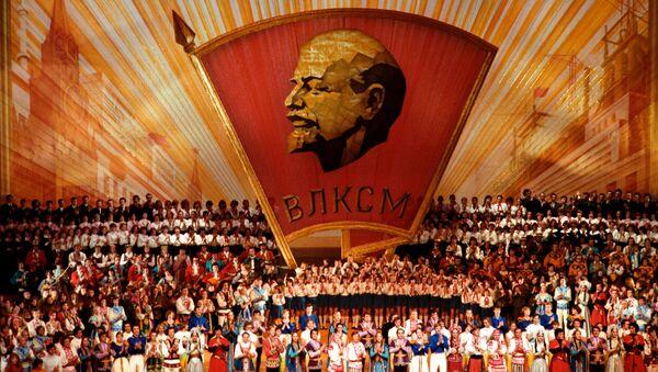 60. rocznica powstania Wszechzwiązkowego Leninowskiego Komunistycznego Związku Młodzieży - Sputnik Polska