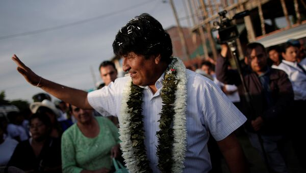 Evo Morales, prezydent Boliwii - Sputnik Polska