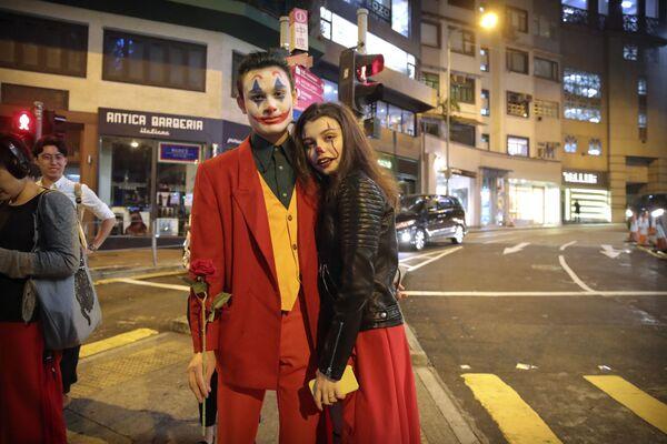 Halloween w Hongkongu - Sputnik Polska